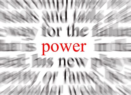 A conceptual image representing a focus on power