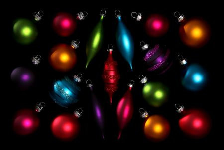 A set of colorful Christmas ornaments - perfect for a background Stock Photo - 673551