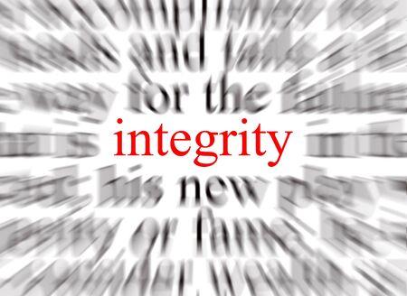 rectitude: A conceptual image representing a focus on integrity