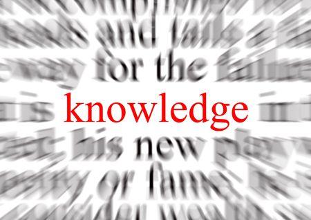 Blurred texte avec un accent sur la connaissance Banque d'images - 683919