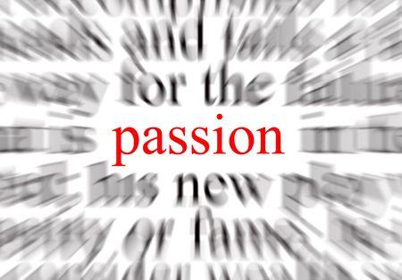 A conceptual image representing a focus on passion Foto de archivo