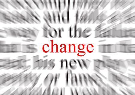 A conceptual image representing a focus on change Stock Photo