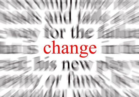modificar: Una imagen conceptual que representa un foco en el cambio