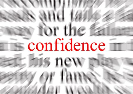 Blurred text with a focus on confidence Stock Photo - 690240