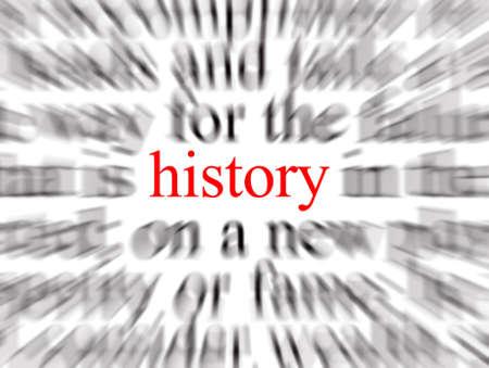 historians: Offuscata testo con particolare attenzione alla storia  Archivio Fotografico