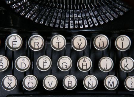 A close up of a vintage typewriter photo