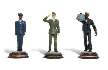 airforce: Figures of men from the army, navy and airforce