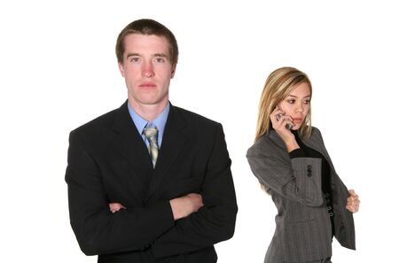 dressed for success: A business team dressed for success isolated over white Stock Photo