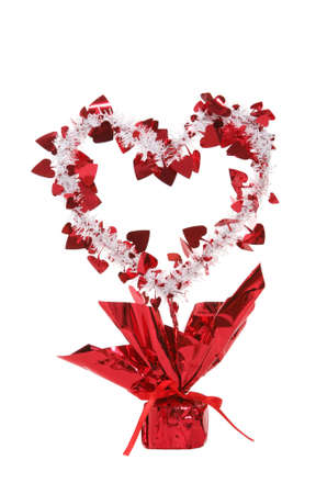 A Valentines Day heart isolated over white