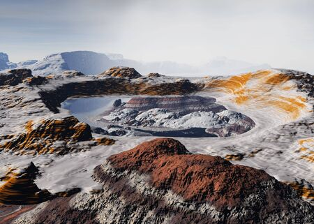An alien landscape on a planet far away Stok Fotoğraf - 782509