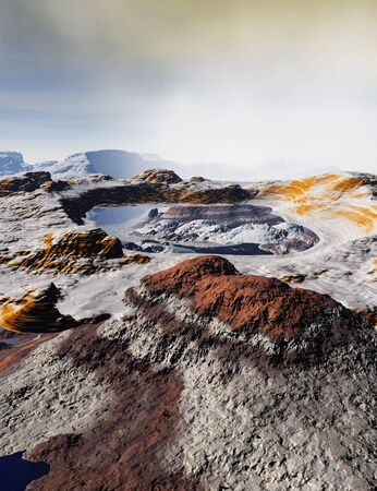 An alien landscape on a planet far away