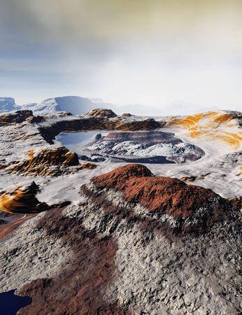 alien landscape: Un paesaggio straniero su un pianeta lontano via Archivio Fotografico