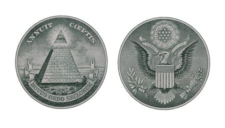 pluribus: Two money symbols from a one dollar bill
