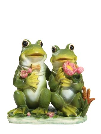 A couple of frogs together in love on a lily pad Stock Photo - 804658