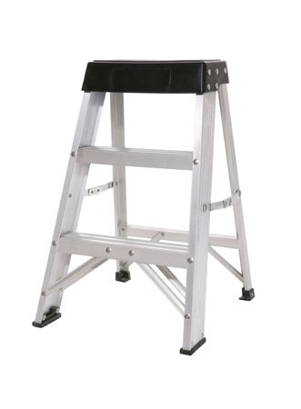 A small step ladder isolated over white 免版税图像