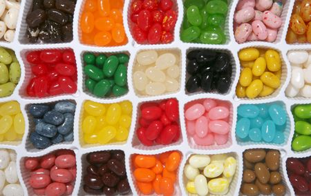 jelly beans: Colorful jelly candy background with many differen flavors