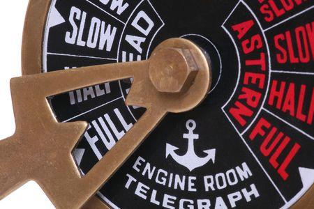 telegraaf: Een schepen telegraaf op volle kracht vooruit