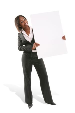 A pretty business woman making a presentation Stock Photo - 1254241