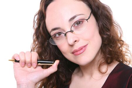 A pretty professional woman thinking about a problem Stock Photo - 1280915