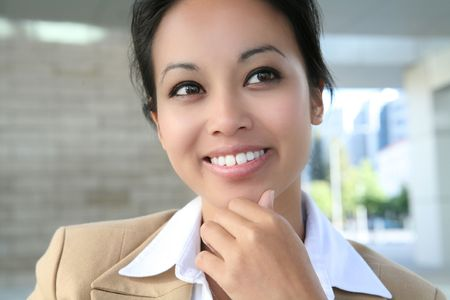 A pretty asian business woman at her workplace Stock Photo - 1343242