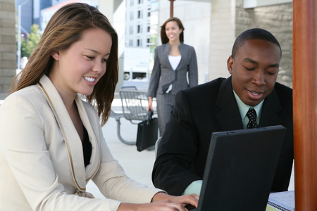 A diverse business group or team at the table Stock Photo - 1439880