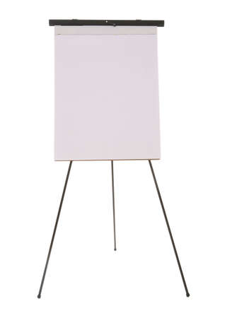 flipchart: A tall flipchart standing on the floor over a white background