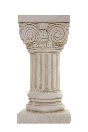 Am ancient architectural column isolated over a white background