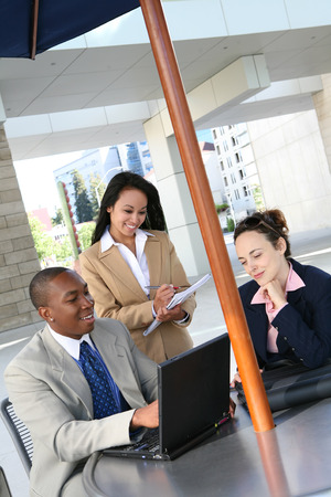 A diverse business group or team with several nationalities photo