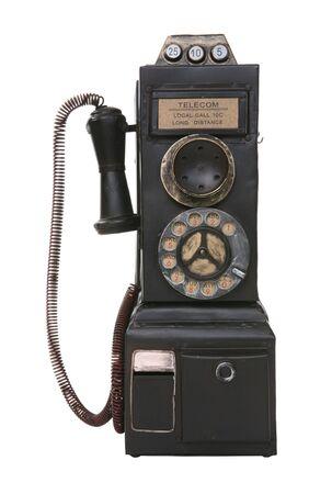 Un vieux téléphone payer vintage isolé sur blanc Banque d'images - 1833915