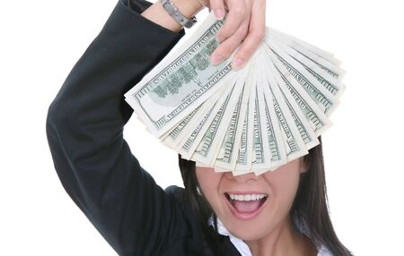 A rich young business woman with a lot of money Stock Photo - 1936242
