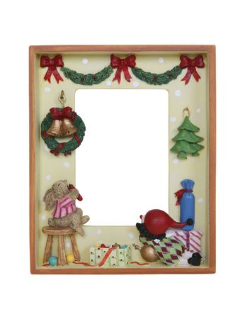 A holiday Christmas picture frame isolated over white photo