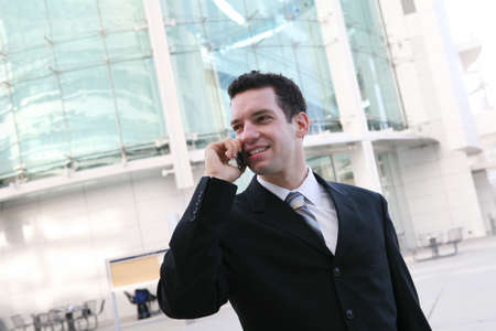A handsome business man talking on the phone Stock Photo - 2433785