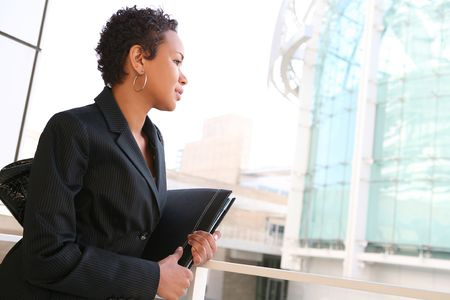 A pretty african american business woman at her company Stock Photo - 2586160