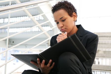 A pretty african american business woman at her company Stock Photo - 2586210