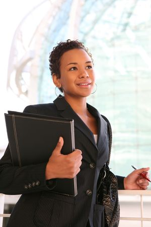 A pretty african american business woman at her company Stock Photo - 2601180