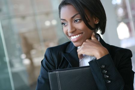 A pretty african american business woman at her company Stock Photo - 2688084