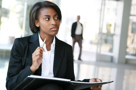 A pretty african american business woman at her company Stock Photo - 2687682