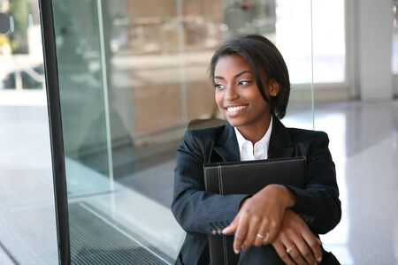A pretty african american business woman at her company Stock Photo - 2702178