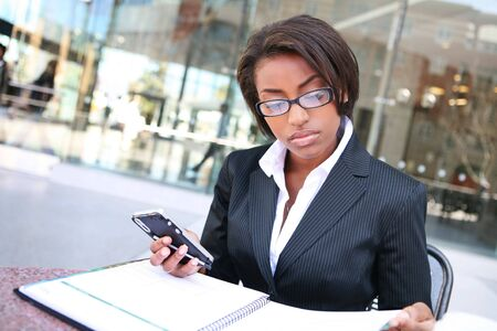 A pretty african american business woman at her company Stock Photo - 2712794