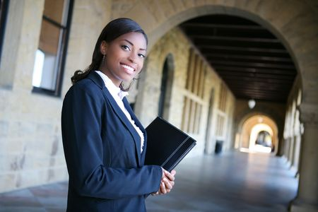 A pretty african american woman at college Stock Photo - 2775071