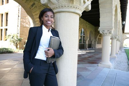A pretty african american woman at college Stock Photo - 2775144