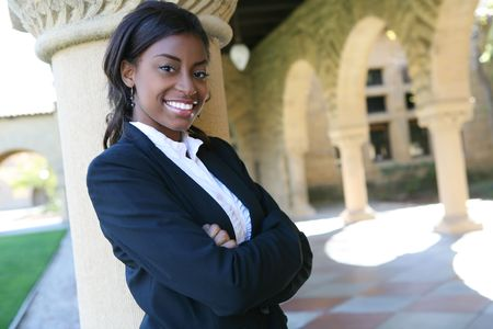 A pretty african american woman at college Stock Photo - 2782990
