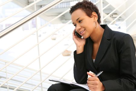 academia: A pretty african american business woman at her company