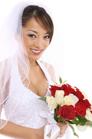A beautiful asian bride on her wedding day Stock Photo - 3253372