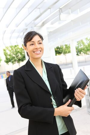A pretty african american business woman at her office building Stock Photo - 3455250