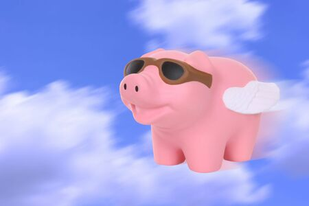 surpass: A humorous metaphor signaling when pigs fly