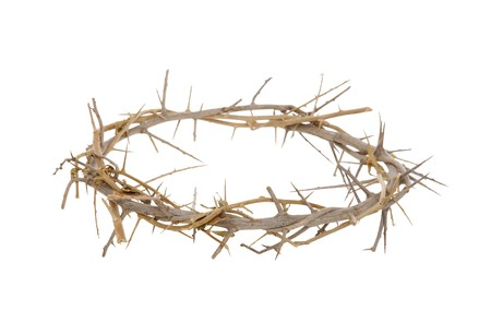 A religious corwn of thorns isolated over white background Stock Photo - 4413696
