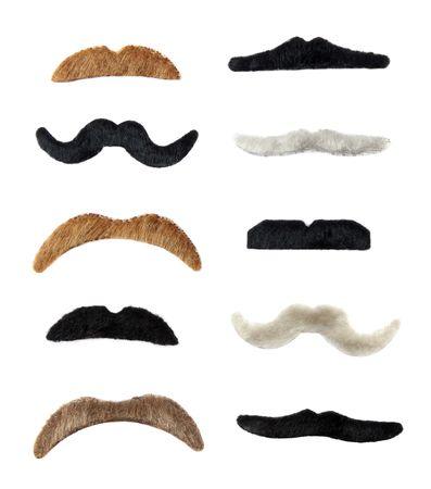 bigote: 10 bigote color aislado sobre fondo blanco
