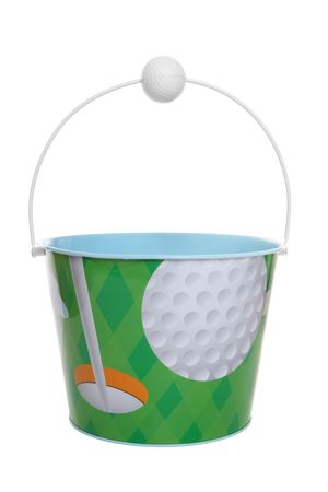 par: A golf sport themed pail (bucket) isolated over white
