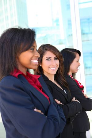 A diverse attractive woman business team at office building Stock Photo - 7103733